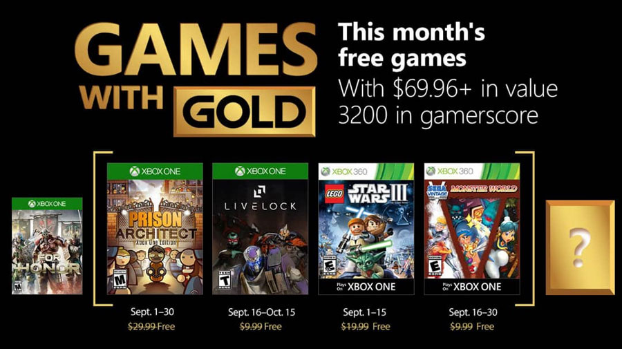 games with gold septiembre 2018