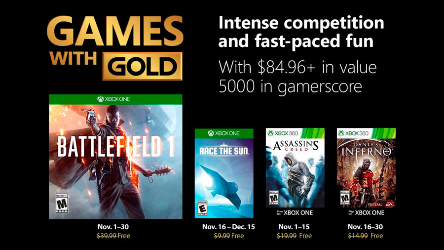 Games With Gold Noviembre 2018