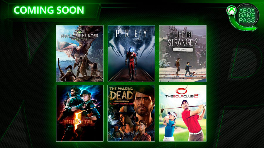 Juegos Xbox Game Pass - Abril 2019